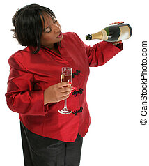 Woman Champagne - Beautiful 29 year old African American ...