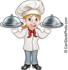 Woman Chef Cartoon Character