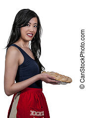 Woman Chef with Pie