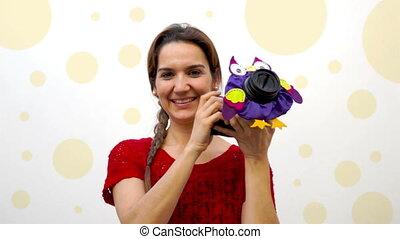 Woman Child Photographer Owl Puppet - Female professional...