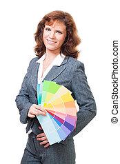 Woman choose color