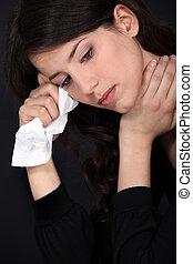 woman., chorando