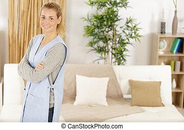 woman cleaner portrait