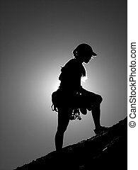 woman climber silhouette