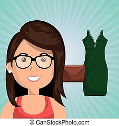 woman clothes closet