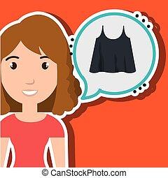 woman clothes closet