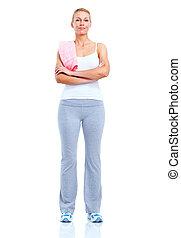 woman., condicão física