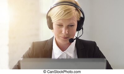 Woman Consultates Online - Customers helpline worker, blonde...