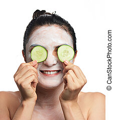 woman cover her eyes