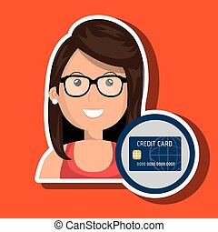 woman credit card money