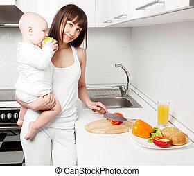 woman csecsemő, főzés