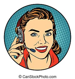 Woman customer support operator