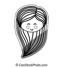 Woman cute cartoon