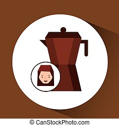 woman cute maker coffee graphic