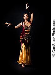 Woman dance in arabic costume