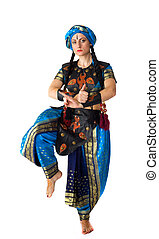 Woman dance in arabic costume