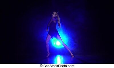 Woman dance in the studio. Slow motion