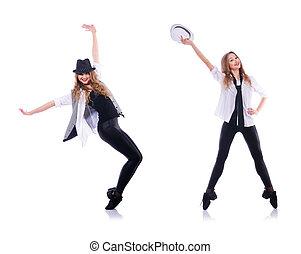 woman modern dancing woman in shadow silhouette full