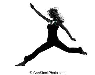 woman dancer dancing silhouette
