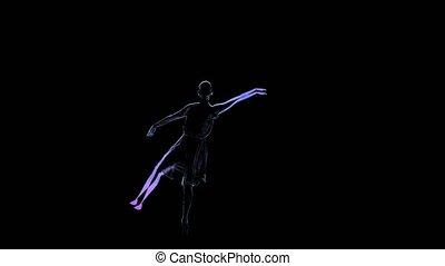 Woman dancer, graceful ballerina posing in slow motion....