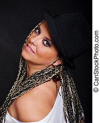 woman dancer in hat