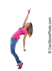 woman dancer in hip hop attire