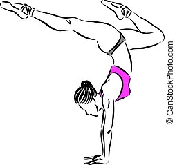 woman dancer vector illustration 1
