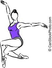 woman dancer vector illustration 3