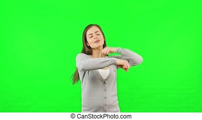 Woman Dancing Green Chroma Key Screen Background