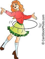 Woman Dancing, illustration