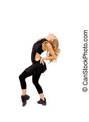 woman dancing or exercising