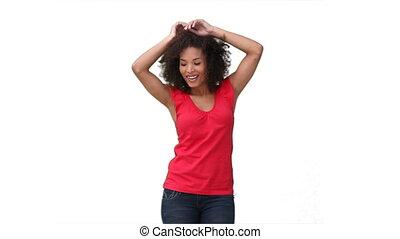 Woman dancing sensually