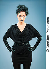 Woman depicting the concept  Evil (Medusa Gorgon)