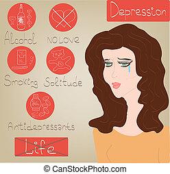 Woman Depression mental health