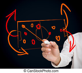 Woman developing a tactical sport strategy