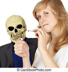 Woman did not understand how dangerous smoking