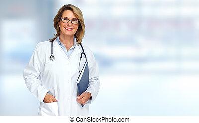 woman., docteur