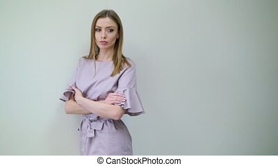 Woman doctor in clinic - Woman doctor on white background