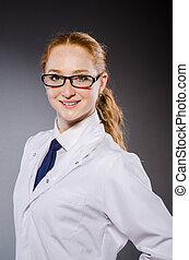 Woman doctor in medical concept