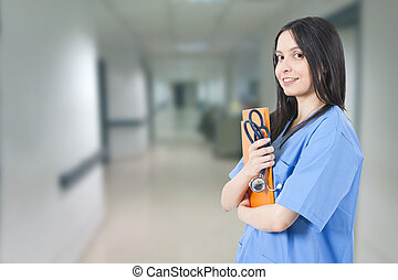 woman doctor in the hospital