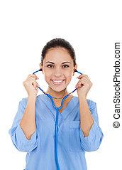 woman doctor, nurse