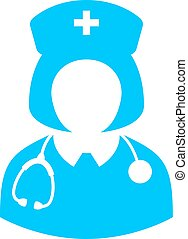 Woman doctor vector icon