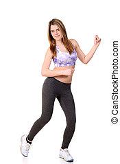 woman doing aerobic exercise