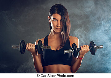 Woman Doing Biceps Exercise