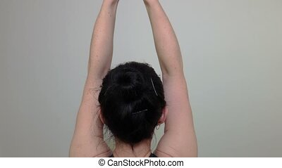 Woman doing exercises for triceps
