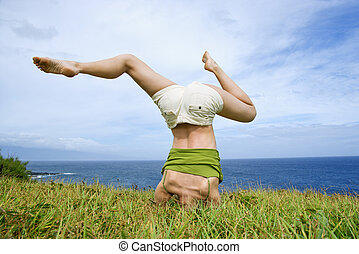 woman headstand stock photo images 720 woman headstand