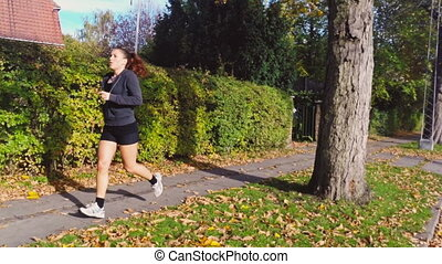 Woman Doing Her Daily Exercise Run