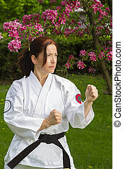 woman doing martial art
