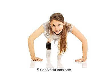 Woman doing pumps