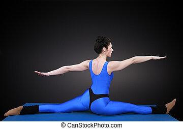 Balancing act from behind